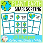 Shape Sorting Mats: Earth Day ~Digital Download~